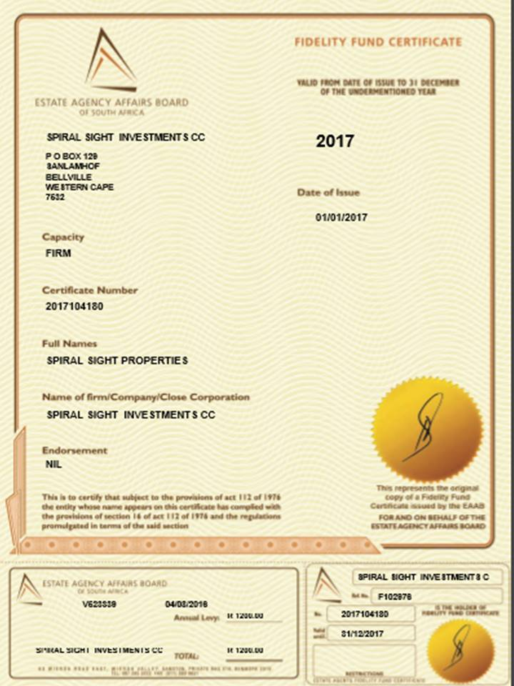 It is sometimes believed that sellers must pay commission to agents, even if they don't have a FFC (FIDELITY FUND CERTIFICATE).